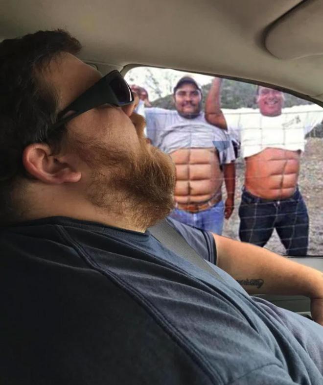 Cuando el marido dormido conoce a Photoshop ...
