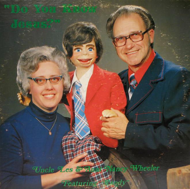 Portada del álbum cristiano vintage aterrador.