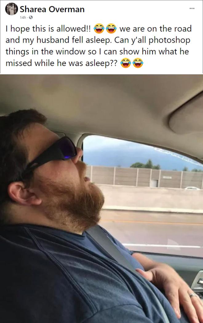 Marido durmiendo.