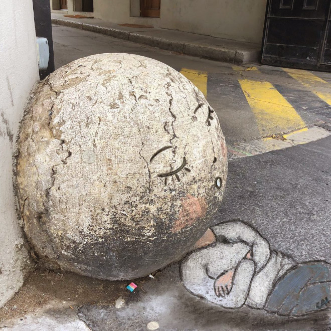 Arte callejero inteligente.