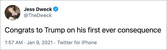 Felicitaciones a Trump por su primera consecuencia