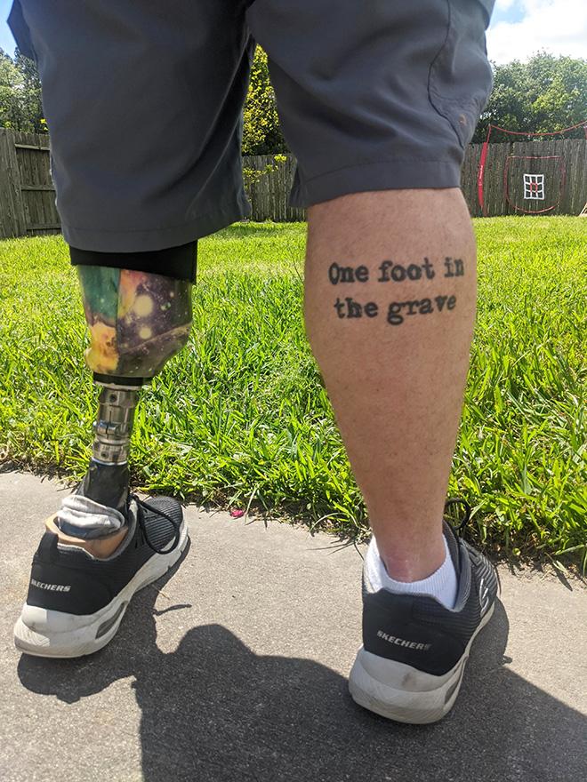 Tatuaje divertido.