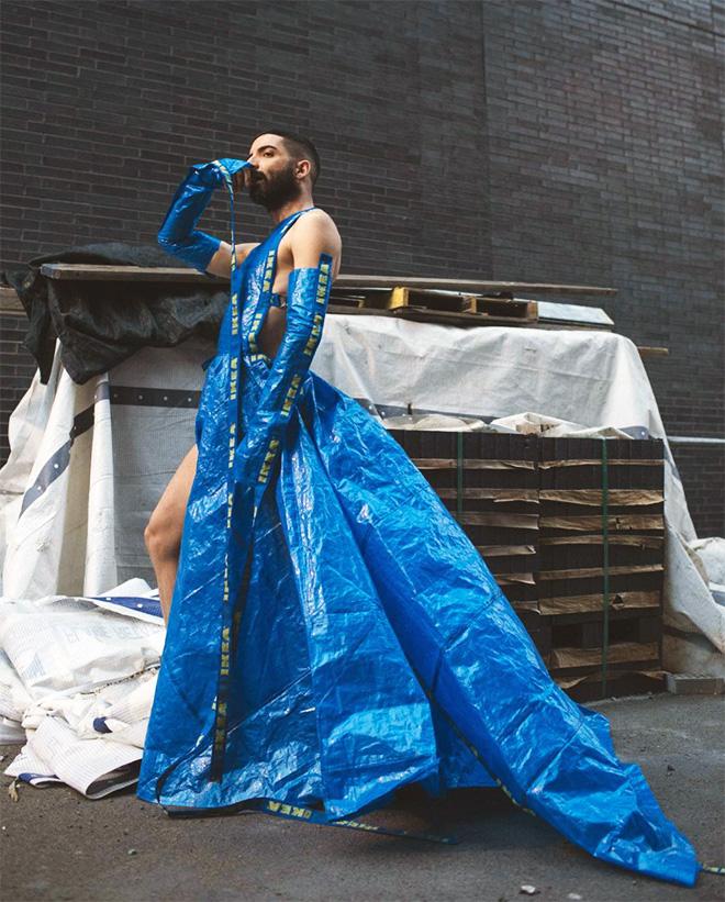 """Bolso de moda azul IKEA. """"Ancho ="""" 660 """"alto ="""" 821"""