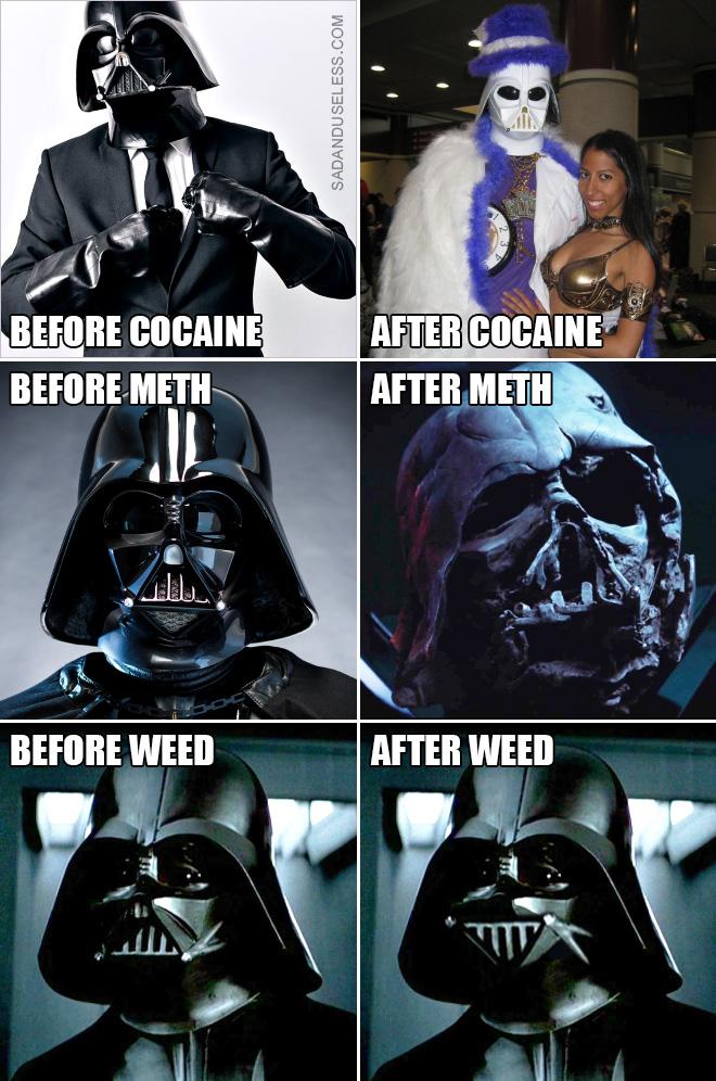 Darth Vader: antes y después.