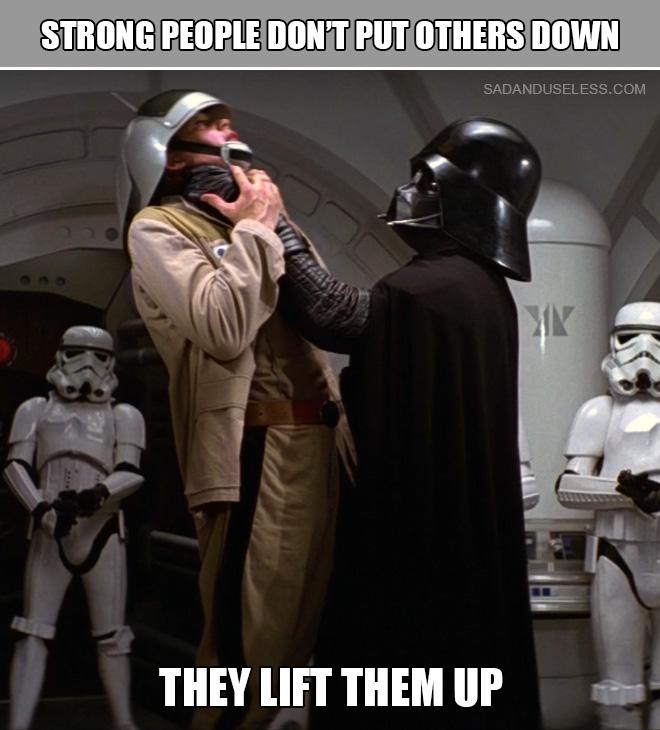 ¡Dios bendiga a Darth Vader!