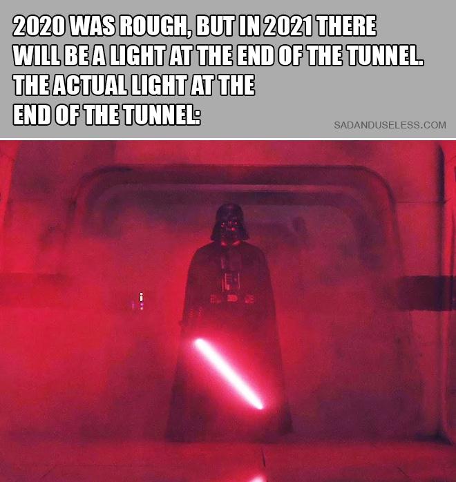 Luz real al final del túnel.