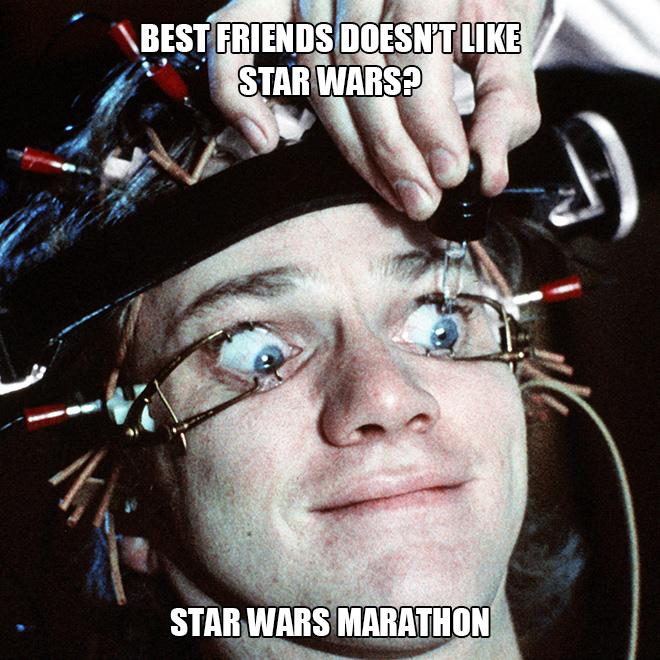 Maratón de Star Wars.