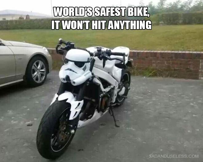 La bicicleta más segura del mundo.