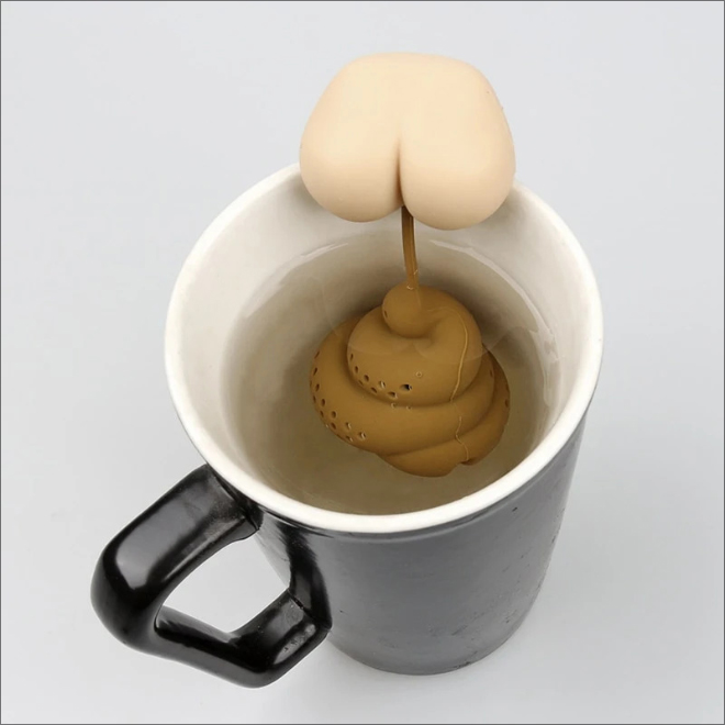 Infusor de té de caca.