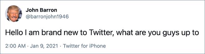 Hola, soy nuevo en Twitter, ¿qué están haciendo?