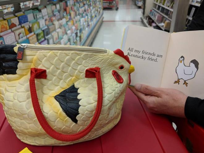 ¡La bolsa de pollo es increíble!