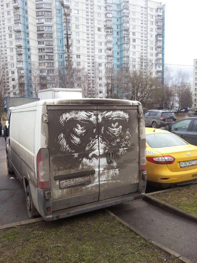 Arte de coches sucios.