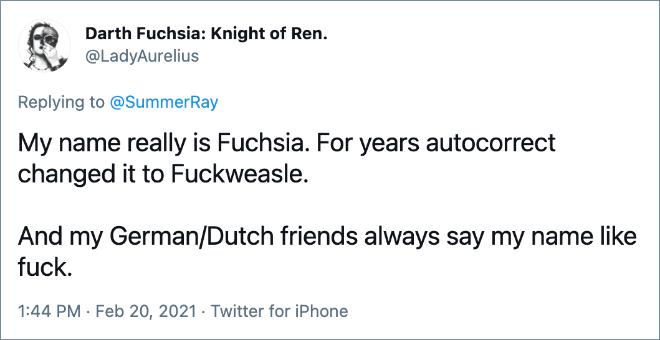 Mi nombre es realmente fucsia.