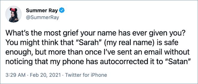 ¿Cuál es la angustia más grande que te ha causado tu nombre? Puedes pensar que