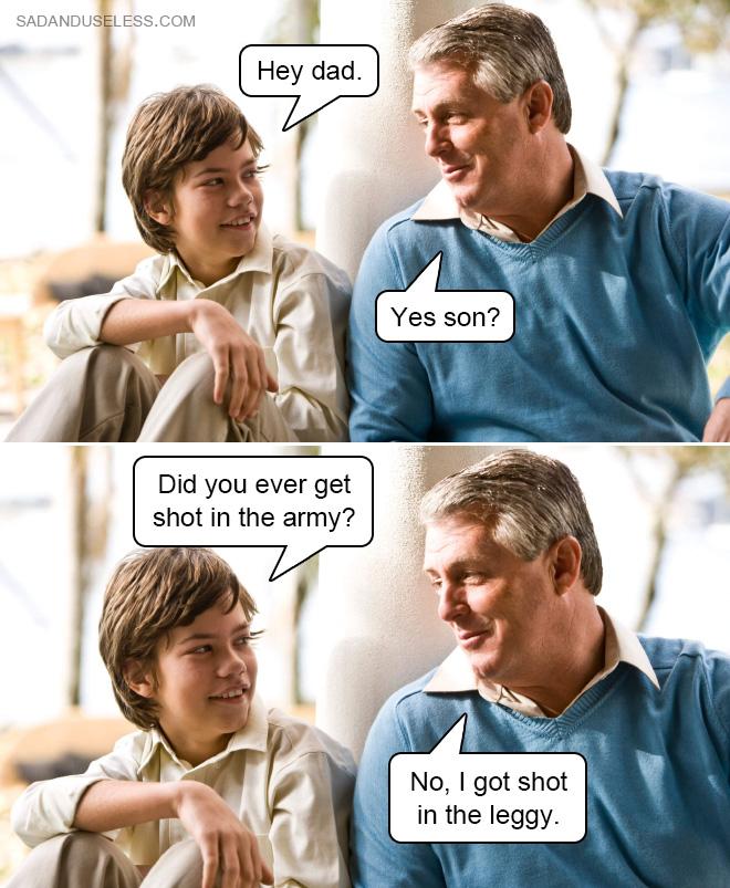 ¿Alguna vez te han disparado en el ejército?