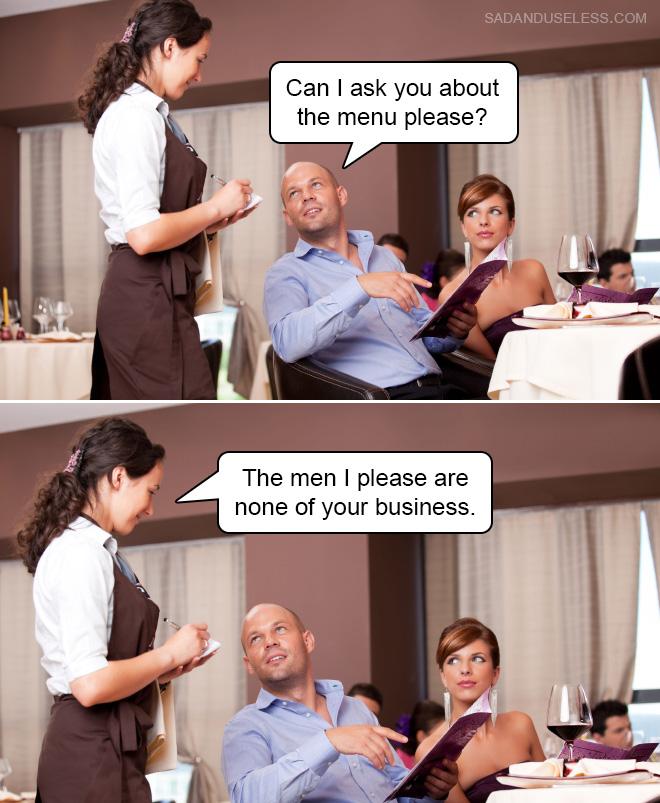 ¿Puedo preguntarles sobre el menú por favor?
