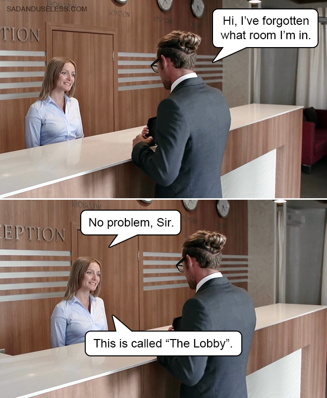 Broma del lobby.