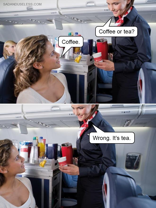 ¿Café o té?