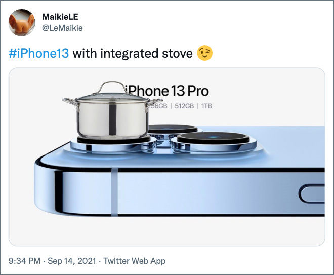 # iPhone13 con estufa integrada.