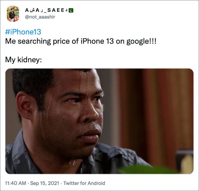 ¡Estoy buscando el precio del iPhone 13 en Google!